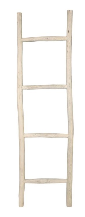 Decoratieve ladder - naturel - teak