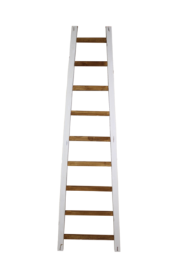 Decoratieve ladder Tangga - 195 cm - naturel/wit - teak