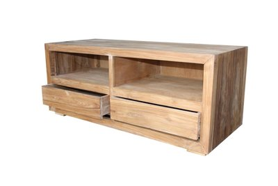 TV-dressoir - blank - teak