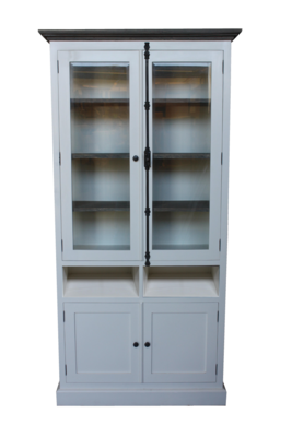 Kast - 105 cm - wit/grey wash - java mix wood