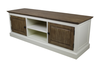 TV dressoir Hampshire 2-deurs - wit/oud rustiek