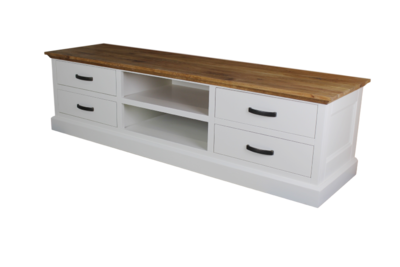 TV-dressoir Provence - naturel eiken/wit