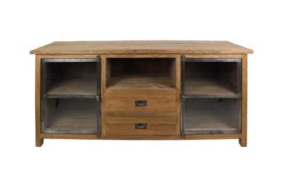 TV meubel Hunter - reclaimed teak/ijzer