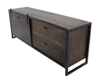 TV-dressoir - ijzer/mangohout - antique finish HSM Collection